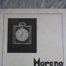 Coleccionismo de Revistas y Periódicos: JOYERIA RELOJERIA MORENO. BILBAO. PUBLICIDAD ORIGINAL REVISTA AÑOS 30. Lote 96715743