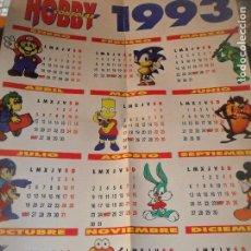 Coleccionismo de Revistas y Periódicos: HOBBY CONSOLAS CALENDARIO 1993 --. Lote 96852363