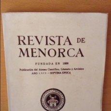 Coleccionismo de Revistas y Periódicos: REVISTA DE MENORCA. MAHON. PRIMER SEMESTRE 1978. Lote 96855355