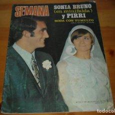 Coleccionismo de Revistas y Periódicos: SEMANA Nº 1531 - 21 JUNIO 1969 - BODA SONIA BRUNO Y PIRRI - REVISTA. Lote 97011331