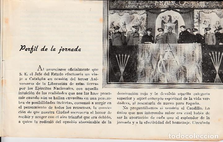 Coleccionismo de Revistas y Periódicos: FOLLETO HOMENAJE DE REUS AL CAUDILLO 1942 - Foto 2 - 97033951