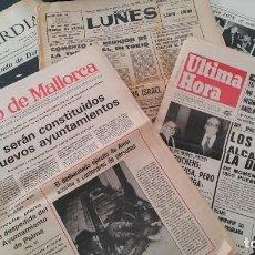 Coleccionismo de Revistas y Periódicos: LOTE PERIÓDICOS TRANSICIÓN, 7 DICIEMBRE 1978, CONSTITUCIÓN PRIMEROS AYUNTAMIENTOS DE LA DEMOCRACIA. Lote 97041007