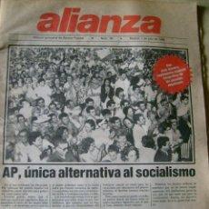 Coleccionismo de Revistas y Periódicos: ALIANZA Nº 38 MADRID, 1 JULIO 1986 REVISTA ALIANZA POPULAR TRANSICIÓN ESPAÑOLA RESULTADOS ELECCIONES. Lote 97071571