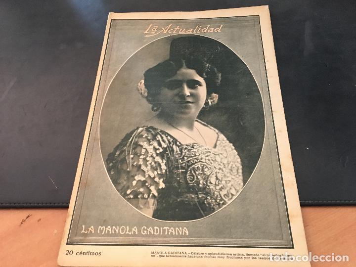 LA ACTUALIDAD Nº 25 ABRIL 1914 LA MANOLA GADITANA, LOLA VELAZQUEZ (Coleccionismo - Revistas y Periódicos Antiguos (hasta 1.939))