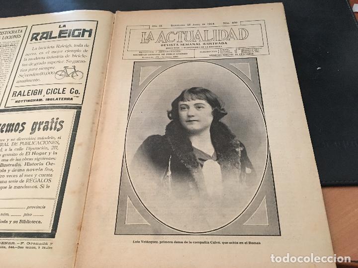 Coleccionismo de Revistas y Periódicos: LA ACTUALIDAD Nº 25 ABRIL 1914 LA MANOLA GADITANA, LOLA VELAZQUEZ - Foto 2 - 97166055