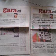 Coleccionismo de Revistas y Periódicos: GARA 2 EJEMPLARES DEL Nº 0 CON DISTINTAS PORTADAS. Lote 97131951