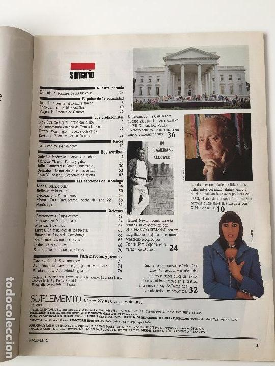 Coleccionismo de Revistas y Periódicos: Revista Suplemento Semanal Nº272 -10 ene.1993. Keanu Reeves, Rossy de Palma, Juan Luís Guerra... - Foto 2 - 97205091