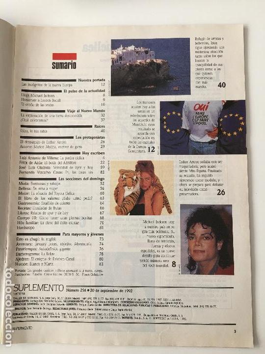 Coleccionismo de Revistas y Periódicos: Revista Suplemento Semanal Nº256 -20 sep.1992. Esther Arroyo, Michael Jackson... - Foto 2 - 97205707