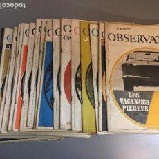 Coleccionismo de Revistas y Periódicos: LIQUIDACION LOTE 22 SEMANARIOS FRANCES LE NOUVEL OBSERVATEUR 1966 Y 1967. Lote 97253059