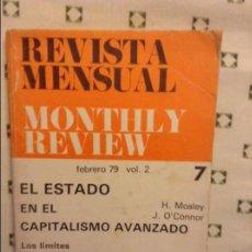 Coleccionismo de Revistas y Periódicos: REVISTA MENSUAL MONTHLY REVIEW. FEBRERO 1979. VOLUMEN 2. Nº 7. Lote 97296823