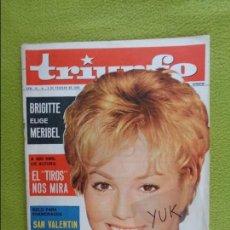 Coleccionismo de Revistas y Periódicos: MYLENE DEMONGEOT - GINA LOLLOBRIGIDA - BRIGITTE BARDOT ... EN REVISTA TRIUNFO 1963. Lote 97347635