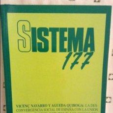 Coleccionismo de Revistas y Periódicos: REVISTA SISTEMA 177 - NOVIEMBRE 2003 -. Lote 97375635