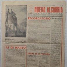 Coleccionismo de Revistas y Periódicos: PERIODICO NUEVA ALCARRIA. 20 DE MARZO DE 1941. GUADALAJARA. Lote 97614135