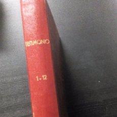 Coleccionismo de Revistas y Periódicos: TESTIMONIO. AYER, HOY Y MAÑANA EN LA HISTORIA. (BRUGUERA 1975-76) 1 TOMO CON LOS 12 NÚMEROS. Lote 97654627