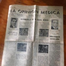 Coleccionismo de Revistas y Periódicos: LA OPINION MÉDICA REVISTA CLÍNICA Y LABORATORIO ZARAGOZA 1942. Lote 97713491