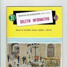 Coleccionismo de Revistas y Periódicos: TRANVIAS DE BARCELONA, S..A. BOLETIN INFORMATIVO. AÑO 1967. SEPTIEMBRE. NÚM. 6... Lote 97720967