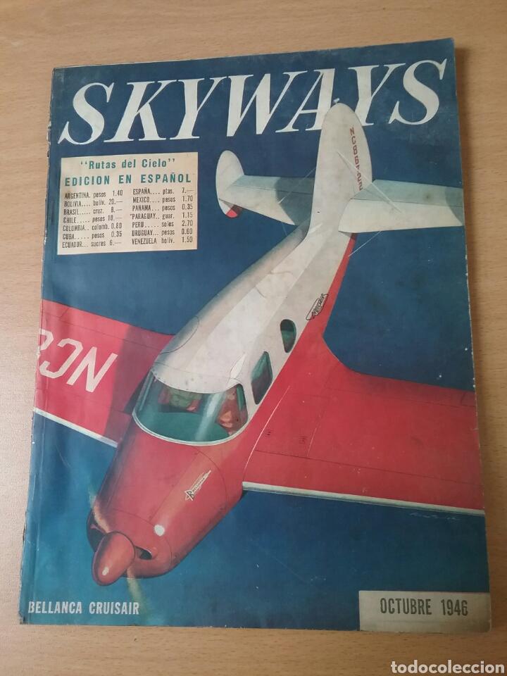 Coleccionismo de Revistas y Periódicos: Lote 3 revistas antiguas de aviación Skyways.Años 40. - Foto 2 - 97738474