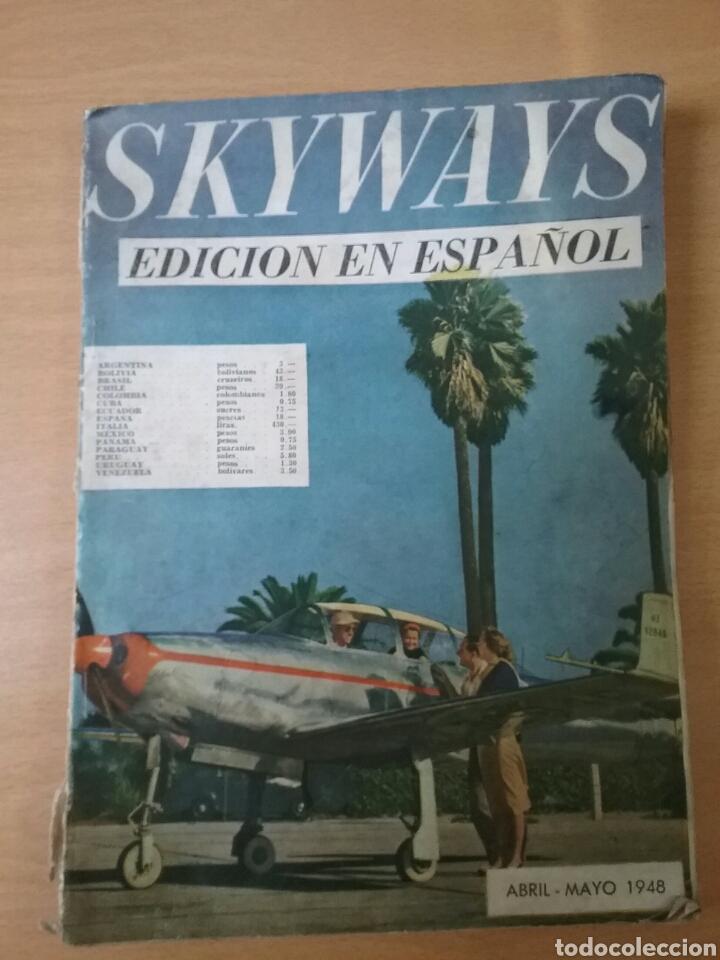 Coleccionismo de Revistas y Periódicos: Lote 3 revistas antiguas de aviación Skyways.Años 40. - Foto 3 - 97738474