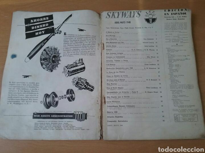 Coleccionismo de Revistas y Periódicos: Lote 3 revistas antiguas de aviación Skyways.Años 40. - Foto 11 - 97738474