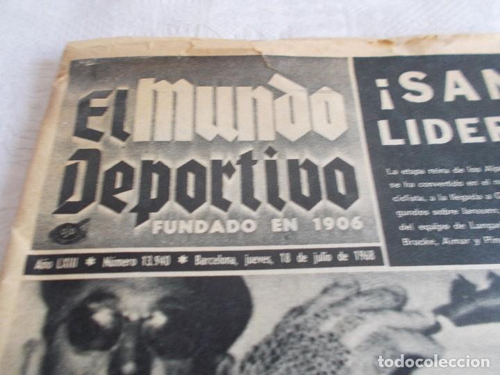 Coleccionismo de Revistas y Periódicos: EL MUNDO DEPORTIVO 18 de Julio 1968 - Foto 2 - 97805187
