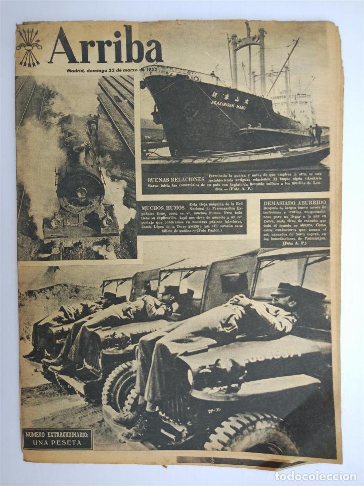 ARRIBA Nº 6043 II ÉPOCA - MARZO 1952 - ENIGMA DEL ARCO DE CABANES (Coleccionismo - Revistas y Periódicos Modernos (a partir de 1.940) - Otros)