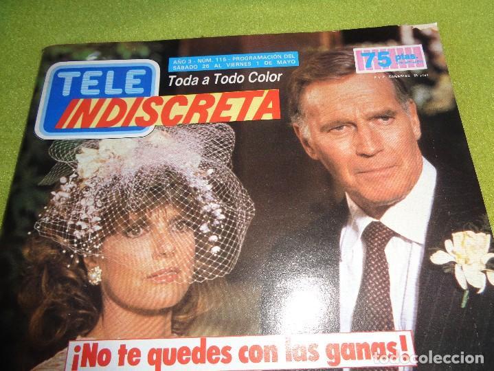 Coleccionismo de Revistas y Periódicos: REVISTA TELEINDISCRETA Nº 115 LOS COLBY TELE-INDISCRETA - Foto 2 - 97826563