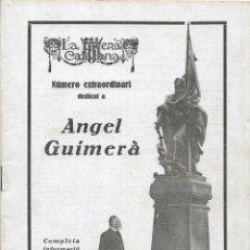 Coleccionismo de Revistas y Periódicos: LA ESCENA CATALANA - NUMERO EXTRAORDINARI DEDICAT A ANGEL GUIMERA – 1924. Lote 97951763