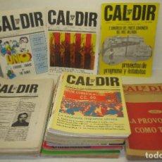 Coleccionismo de Revistas y Periódicos: LOTE 49 REVISTAS CAL DIR, PARTIT COMUNISTA DEL PAÍS VALENCIÀ, PCPV, AÑOS 1977-79,POSIBILIDAD SUELTOS. Lote 98002859