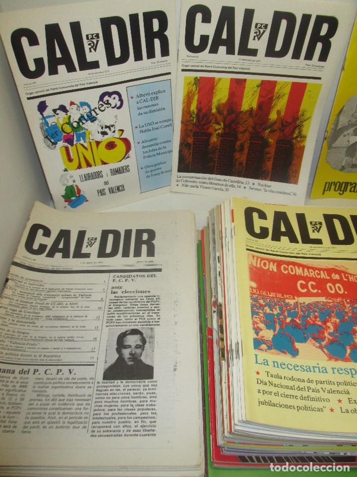 Coleccionismo de Revistas y Periódicos: Lote 49 revistas CAL DIR, Partit Comunista del País Valencià, PCPV, años 1977-79,posibilidad sueltos - Foto 2 - 98002859
