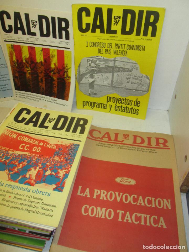 Coleccionismo de Revistas y Periódicos: Lote 49 revistas CAL DIR, Partit Comunista del País Valencià, PCPV, años 1977-79,posibilidad sueltos - Foto 3 - 98002859