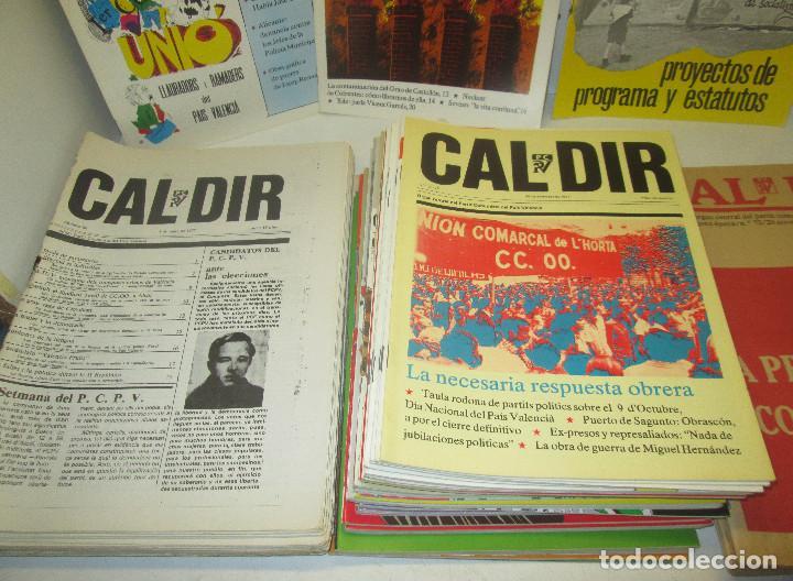 Coleccionismo de Revistas y Periódicos: Lote 49 revistas CAL DIR, Partit Comunista del País Valencià, PCPV, años 1977-79,posibilidad sueltos - Foto 4 - 98002859