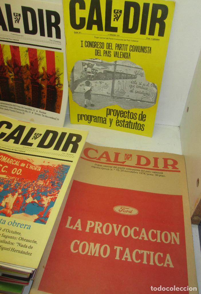 Coleccionismo de Revistas y Periódicos: Lote 49 revistas CAL DIR, Partit Comunista del País Valencià, PCPV, años 1977-79,posibilidad sueltos - Foto 5 - 98002859