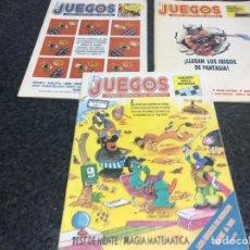 Coleccionismo de Revistas y Periódicos: JUEGOS PARA GENTE DE MENTE LOTE DE 3 REVISTAS - REVISTA DE JUEGOS DE LOGICA. Lote 98027895