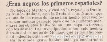 ¿ ERAN NEGROS LOS PRIMEROS ESPAÑOLES ? - 1902 (Coleccionismo - Revistas y Periódicos Antiguos (hasta 1.939))