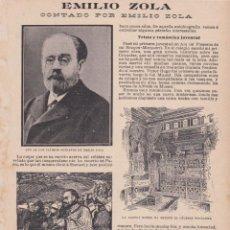 Coleccionismo de Revistas y Periódicos: EMILIO ZOLA -1902. Lote 98059975