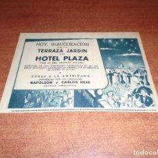 Coleccionismo de Revistas y Periódicos: RETAL PRENSA 1954 PUBLICIDAD HOTEL PLAZA, MADRID. Lote 98089859