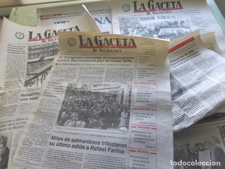 Coleccionismo de Revistas y Periódicos: LOTE PRENSA MUERTE DE RAFAEL FARINA. VARIOS PERIÓDICOS SALAMANCA - RECORTES DE PRENSA - Foto 5 - 98713411