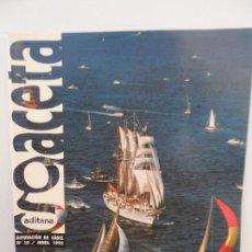 Coleccionismo de Revistas y Periódicos: GACETA GADITANA DIPUTACION DE CADIZ N1 10 JUNIO 1992.. Lote 98786435