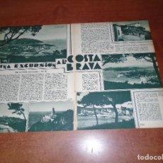 Coleccionismo de Revistas y Periódicos: ARTÍCULO PRENSA 1933: COSTA BRAVA, CALELLA, LLAFRANC, CAÑADELL, CABO DE SAN SEBASTIÁN, FARO DEL CABO. Lote 98814871