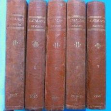 Coleccionismo de Revistas y Periódicos: CATALANA. REVISTA SETMANAL. 10 VOLUMS. DE 1918 A 1926. COMPLETA. ILUSTRACIÓ CATALANA, BARCELONA.. Lote 99051327