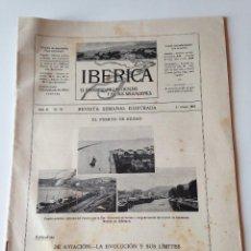 Coleccionismo de Revistas y Periódicos: REVISTA IBERICA Nº70 1915. PUERTO BILBAO AVIACION Y SUS LIMITES TELEMETRO PUENTE VIZCAYA. Lote 99072475