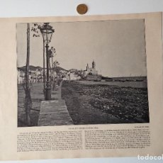 Coleccionismo de Revistas y Periódicos: HOJA ORIGINAL PANORAMA NACIONAL SIGLO XIX. VISTA DE SITGES. Lote 99078071