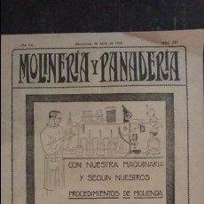 Coleccionismo de Revistas y Periódicos: REVISTA MOLINERÍA Y PANADERÍA ABRIL 1925 NÚM.227. Lote 99181531