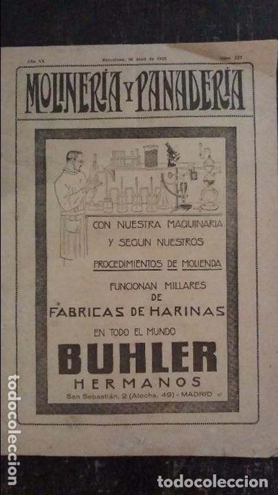 REVISTA MOLINERÍA Y PANADERÍA JUNIO 1926 NÚM.255 (Coleccionismo - Revistas y Periódicos Antiguos (hasta 1.939))