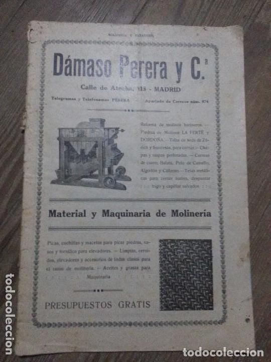 REVISTA MOLINERIA Y PANADERIA SEPTIEMBRE DE 1922 NUMERO 192 (Coleccionismo - Revistas y Periódicos Antiguos (hasta 1.939))