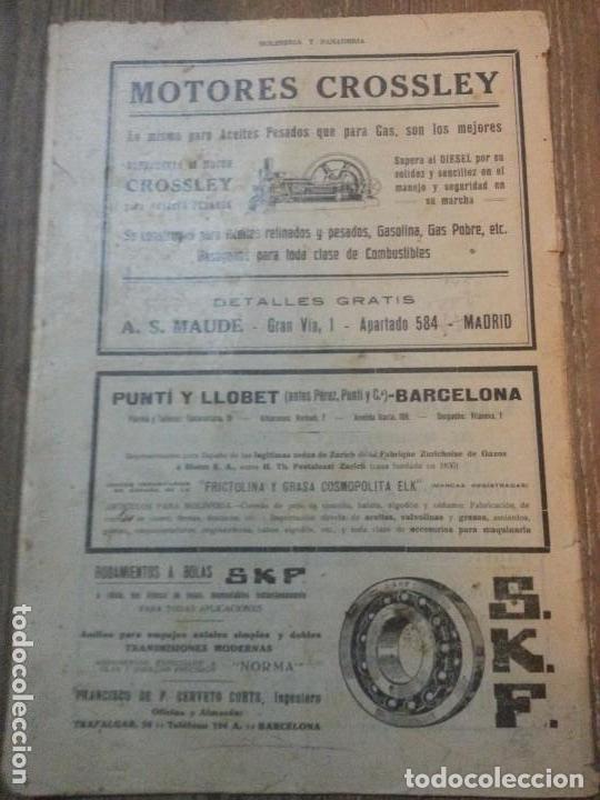 Coleccionismo de Revistas y Periódicos: REVISTA MOLINERIA Y PANADERIA SEPTIEMBRE DE 1922 NUMERO 192 - Foto 2 - 99181955