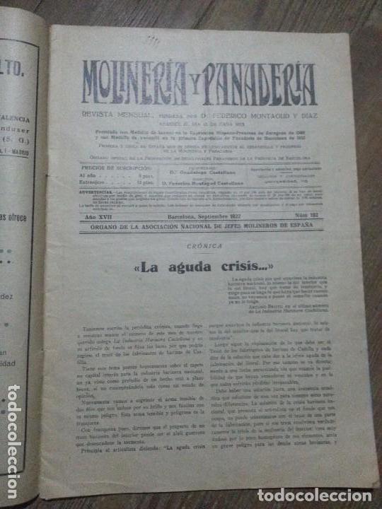 Coleccionismo de Revistas y Periódicos: REVISTA MOLINERIA Y PANADERIA SEPTIEMBRE DE 1922 NUMERO 192 - Foto 8 - 99181955