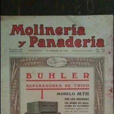 Coleccionismo de Revistas y Periódicos: REVISTA MOLINERÍA Y PANADERÍA FEBRERO 1928 NÚM.295. Lote 99186907