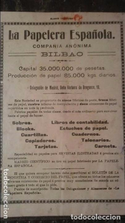 Coleccionismo de Revistas y Periódicos: REVISTA MADRID CIENTIFICO N° 683 - 30 DE OCTUBRE DE 1910 - Foto 2 - 99187567