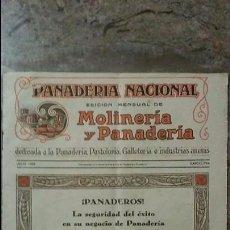 Coleccionismo de Revistas y Periódicos: REVISTA PANADERÍA NACIONAL JULIO DE 1928 BARCELONA. Lote 99189631